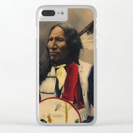 Strikes With Nose, Oglala Sioux Chief 1899 Clear iPhone Case