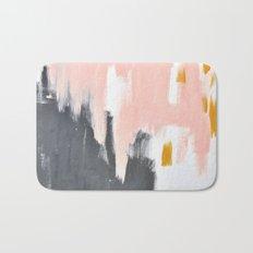 Gray and pink abstract Bath Mat
