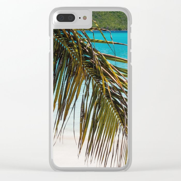 Tropical Shore Clear iPhone Case