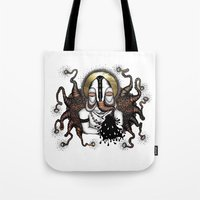 bali Tote Bags featuring BALI ELEPHANT by ISSO