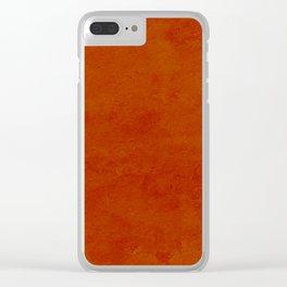 concrete orange brown copper plain texture Clear iPhone Case