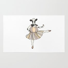 Cow Ballerina Tutu Rug