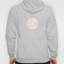 Geometric Gold Pattern on Gold Marble Hoody