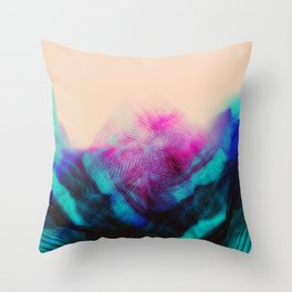 Dark Road Pink Hill Teal Valley Throw Pillow