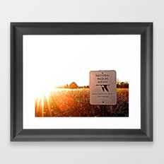 prohibited Framed Art Print