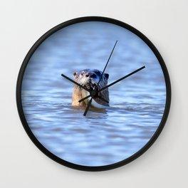 Watercolor Otter 21, Janes Island, Maryland Wall Clock