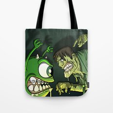 Monsters vs World War Z Tote Bag