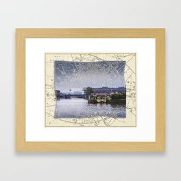 Dublin Docks Framed Art Print