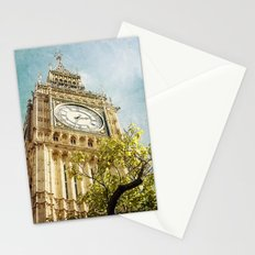 Clock Tower behind tree - London Stationery Cards