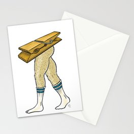Clothespin Scrambled Legs Stationery Cards