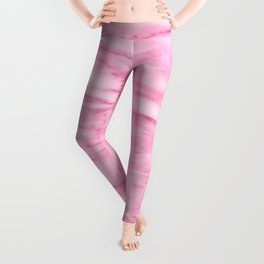 Hollywood Pink Faux Marble Leggings