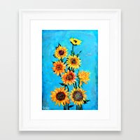 sunshine Framed Art Prints featuring SUNSHINE by Jordan Soliz