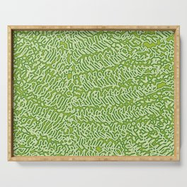 Abstract green Serving Tray