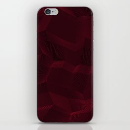 Facets - Dark Purple iPhone Skin