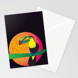 Toucan - Black Stationery Cards