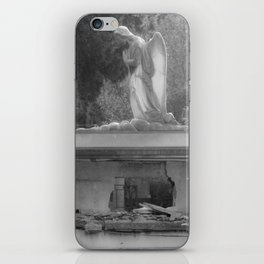 angel on the grave iPhone Skin