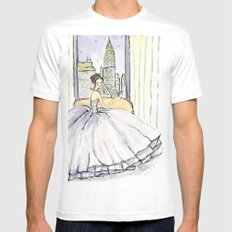 My View in New York City MEDIUM Mens Fitted Tee White