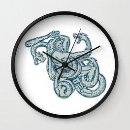 Hercules Fighting Hydra Club  Wall Clock