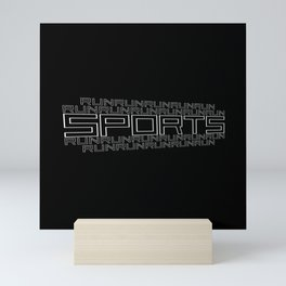 Run for relaxation, pleasure, health... black Mini Art Print