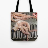 squid Tote Bags featuring Squid by Guice Mann