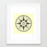 compass Framed Art Prints featuring Compass by Smokacinno