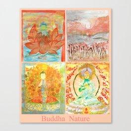 FOUR BUDDHAS  — BUDDHA NATURE Canvas Print