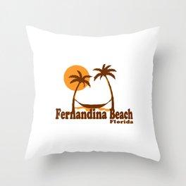 Fernandina Beach - Florida. Throw Pillow