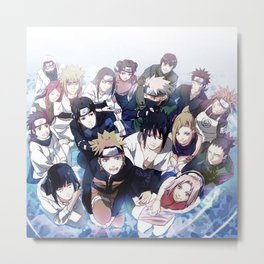 Anime Teens japanese Metal Print