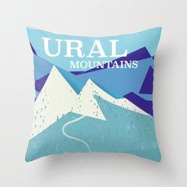 Ural Mountains Russia Throw Pillow