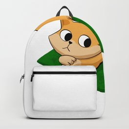 Cat and mouse reading book Backpack