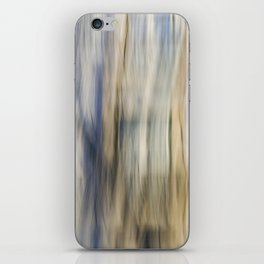 Soft Blue and Gold Abstract iPhone Skin