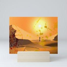 Alone ion the Desert Mini Art Print