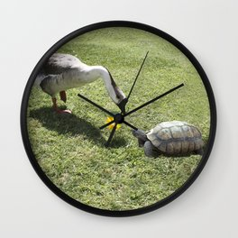 The Turtle and the Goose Wall Clock