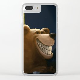 An early start, a travelling bear adventure Clear iPhone Case