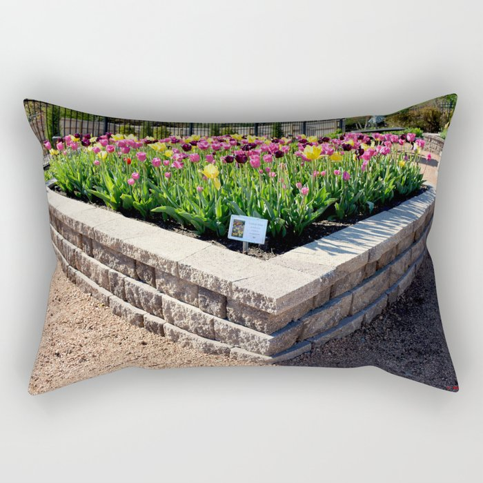 "Muscogee (Creek) Nation - Honor Heights Park Azalea Festival, Tulip ""Critical Mass"" Rectangular Pillow"