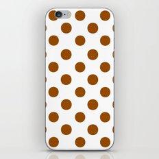 Polka Dots (Brown/White) iPhone & iPod Skin