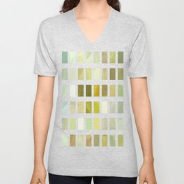 Pale Yellow Poinsettia 1 Abstract Rectangles 2 Unisex V-Neck