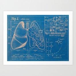 HUMAN LUNG Art Print