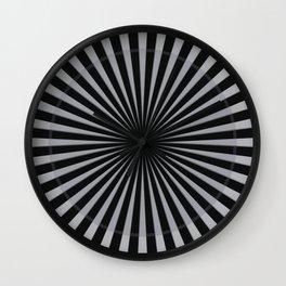Black & White circles Stripes Wall Clock