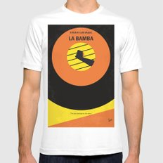 No797 My La Bamba minimal movie poster MEDIUM Mens Fitted Tee White
