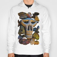 minerals Hoodies featuring skull and minerals by giol's