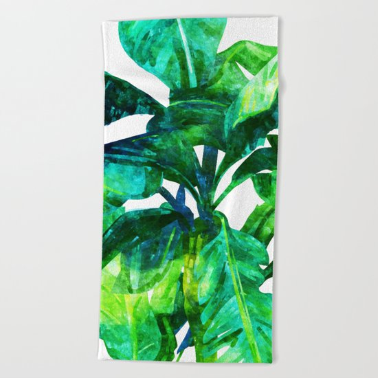 Banana Leaves #society6 #decor #buyart Beach Towel