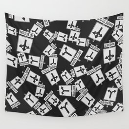 pattern with traffic signs road selection Wall Tapestry