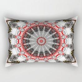 Black White Minimalist Mandala 1 Rectangular Pillow