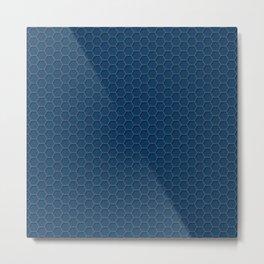 Blue Honeycomb Metal Print