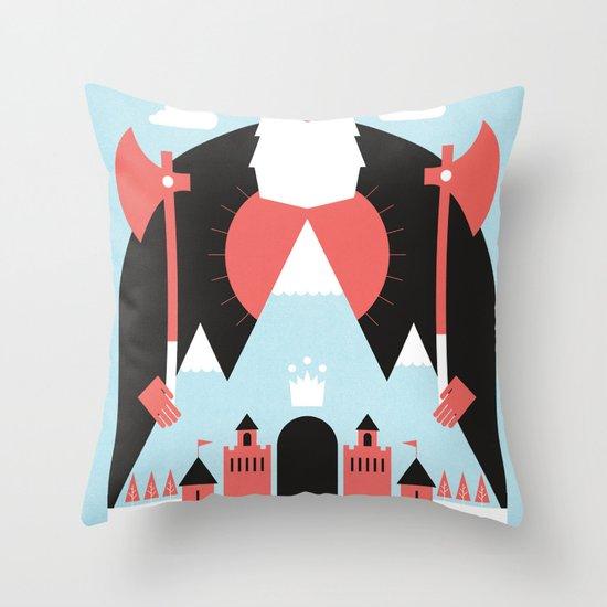 King of the Mountain Throw Pillow