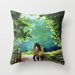 Coming for Carrots Throw Pillow