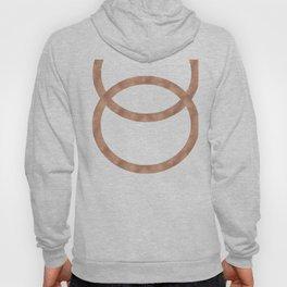 Rose gold circles of infinity Hoody
