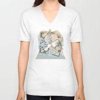 frames V-neck T-shirts featuring BROKEN FRAMES by Cassidy Rae Marietta
