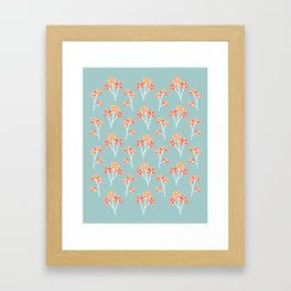 anemone flowers :: sea mist Framed Art Print